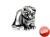 SilveRado™ SRK124 Sterling Silver Kidz Kitty Cat Bead / Charm
