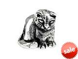 SilveRado™ SRK124 Sterling Silver Kidz Kitty Cat Bead / Charm style: SRK124