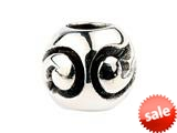 SilveRado™ SRM027 Sterling Silver Unisex Abstract Curves Bead / Charm style: SRM027