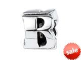 SilveRado™ SRM038 Sterling Silver Letter B Bead / Charm style: SRM038