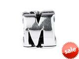 SilveRado™ SRM049 Sterling Silver Letter M Pandora Compatible Bead / Charm style: SRM049