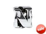 SilveRado™ SRM050 Sterling Silver Letter N Bead / Charm style: SRM050