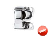 SilveRado™ SRM052 Sterling Silver Letter P Bead / Charm style: SRM052