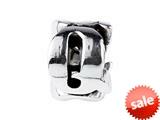 SilveRado™ SRM053 Sterling Silver Letter Q Bead / Charm style: SRM053