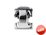 SilveRado™ SRM056 Sterling Silver Letter T Bead / Charm style: SRM056