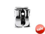 SilveRado™ SRM057 Sterling Silver Letter U Bead / Charm style: SRM057