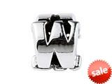 SilveRado™ SRM059 Sterling Silver Letter W Bead / Charm style: SRM059