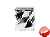 SilveRado™ SRM062 Sterling Silver Letter Z Pandora Compatible Bead / Charm style: SRM062