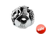 SilveRado™ SRM093 Sterling Silver Focal Musical Instruments Pandora Compatible Bead / Charm style: SRM093