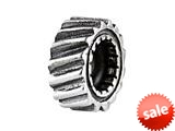 SilveRado™ SRM102 Sterling Silver Unisex Cog # 2 Spacer Bead / Charm style: SRM102