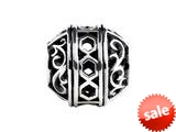 SilveRado™ SRM178 Sterling Silver Focal Filigree Art Bead / Charm
