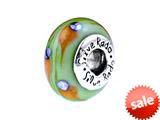 SilveRado™ SW14 Murano Glass Cosmic Shower Bead / Charm style: SW14