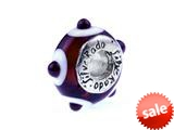 SilveRado™ TD02 Murano Glass Brown Eyed Girl Bead / Charm