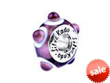 SilveRado™ TD19 Murano Glass Tea Rose Bead / Charm