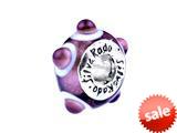 SilveRado™ TD19 Murano Glass Tea Rose Bead / Charm style: TD19