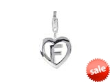 SilveRado™ VR025 Verado Sterling Silver Letter F Bead / Charm with Lobster Clasp style: VR025