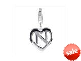 SilveRado™ VR033 Verado Sterling Silver Letter N Click-On Bead / Charm with Lobster Clasp style: VR033