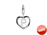 SilveRado™ VR035 Verado Sterling Silver Letter P Bead / Charm with Lobster Clasp style: VR035