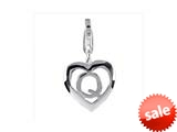 SilveRado™ VR036 Verado Sterling Silver Letter Q Bead / Charm with Lobster Clasp style: VR036