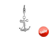 SilveRado™ VR055 Verado Sterling Silver Anchor Your Life Bead / Charm with Lobster Clasp