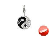 SilveRado™  Verado Bling Yin Yang Pandora Compatible Clip-on Bead / Charm style: VRB301-0-1