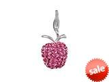 SilveRado™ VRB304-2 Verado Bling Apple Blitz Pink Pandora Compatible Bead / Charm style: VRB304-2