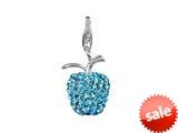 SilveRado™ VRB304-3 Verado Bling Apple Blitz Blue Pandora Compatible Bead / Charm style: VRB304-3