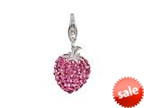 SilveRado™ VRB305-2 Verado Bling Flashy Strawberry Pink Click-On Bead / Charm style: VRB305-2