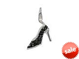 SilveRado™ VRB322-0 Verado Bling In Her Shoes Black Clip-on Bead / Charm style: VRB322-0