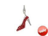 SilveRado™ VRB322-6 Verado Bling-In Her Shoes-Red Click-On Bead style: VRB322-6