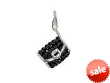 SilveRado™ VRB323-0 Verado Bling Clutch on Me Black Pandora Compatible Bead / Charm style: VRB323-0