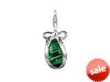 SilveRado™ VRG155-11 Verado Murano Glass Green with Envy Bead / Charm style: VRG155-11