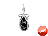 SilveRado™ VRG155-13 Verado Murano Glass Dotty Black Bead / Charm