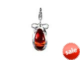SilveRado™ VRG155-5 Verado Murano Glass Russian Red Bead / Charm