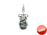 SilveRado™ VRG155-8 Verado Murano Glass Twist and Shout Bead / Charm