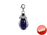 SilveRado™ VRG156-7 Verado Murano Glass Midnight Blue Bead / Charm
