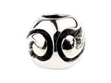 SilveRado SRM027 Sterling Silver Unisex Abstract Curves Bead / Charm
