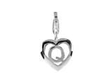 SilveRado VR036 Verado Sterling Silver Letter Q Bead / Charm with Lobster Clasp