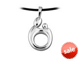 Large Sterling Silver Original Mother and Child® Dimensional Pendant by Janel Russell style: M193S41C