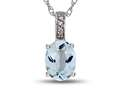 LALI Jewels® 14kt White Gold Aquamarine Oval Pendant