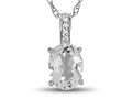 LALI Jewels® 14kt White Gold White Topaz Oval Pendant