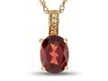 LALI Jewels® 14kt Yellow Gold Garnet Oval Pendant