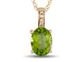 LALI Jewels® 14kt Yellow Gold Peridot Oval Pendant