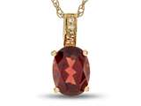 LALI Jewels® 14kt Yellow Gold Garnet Oval Pendant style: LALI1018
