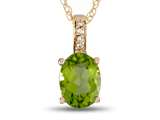LALI Jewels® 14kt Yellow Gold Peridot Oval Pendant style: LALI1020