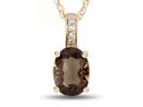 LALI Jewels® 14kt Yellow Gold Smoky Quartz Oval Pendant style: LALI1021