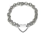Sterling Silver Children Heart Charm Bracelet style: 503353
