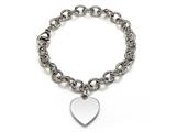 Sterling Silver Children Heart Charm Bracelet style: 503355