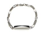 Sterling Silver Children ID Bracelet with Figaro Chain
