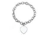 Sterling Silver 8 inches Heart Charm Bracelet
